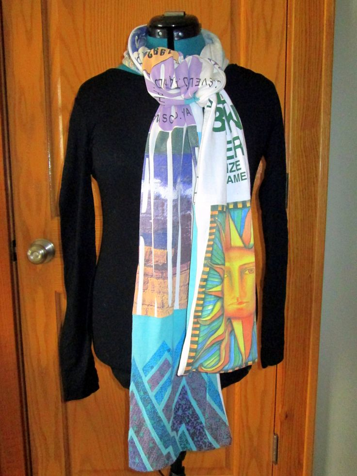 Recycled and repurposed: How to make a scarf out of old t-shirts