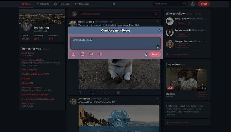 """Twitter, in corso i test della modalità notte sulla versione per PC Trovo davvero molto comoda la """"modalità notte"""" di Twitter, perché non poche volte mi è capitato di dare uno sguardo a quel che accade nel mondo, attraverso questo social, in ore piuttosto tarde. In q #twitter #nightmode #software"""