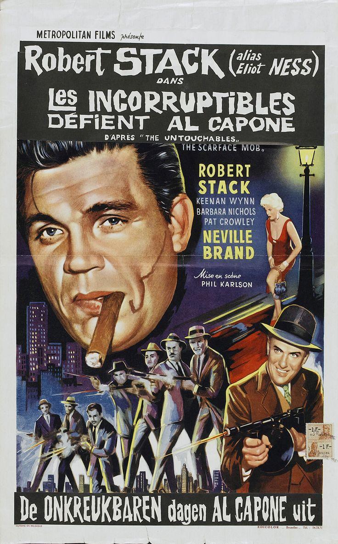 The Scarface Mob (1959) | Belgian Poster Film Noir, Crime ...