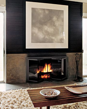 Modern Fireplaces, Modern Living Rooms, Fireplaces Design, Living Room Design, Contemporary Fireplaces, Fireplaces Surroundings, Fireplaces Wall, Fireplaces Ideas, Black Wall