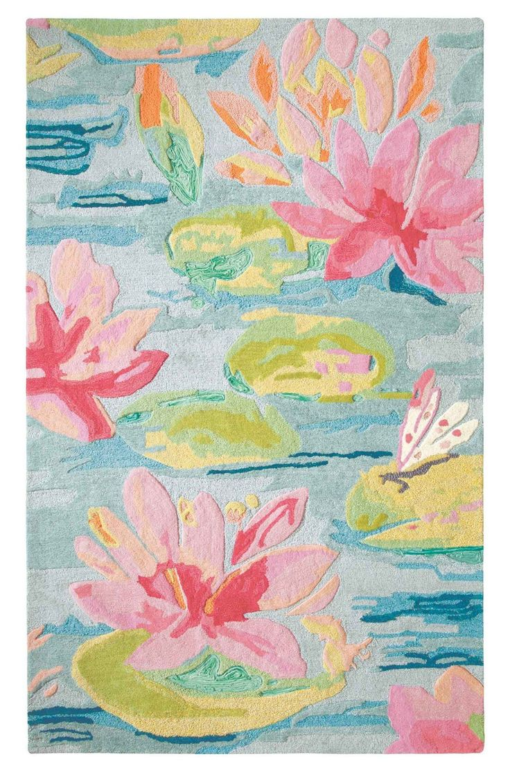 Company C Water Lilies Rug Favorite Area Rugs Water