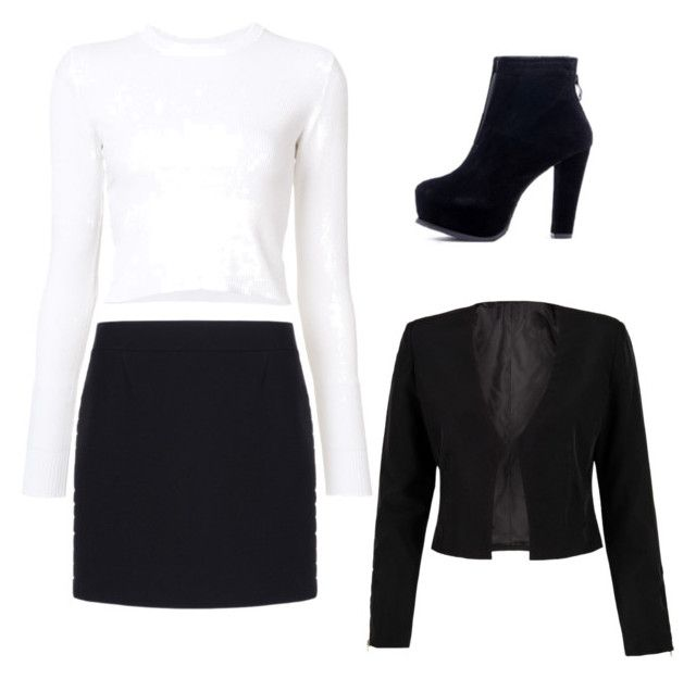 """""""Black and white"""" by ophelierose on Polyvore featuring mode, Balenciaga, Proenza Schouler et WithChic"""