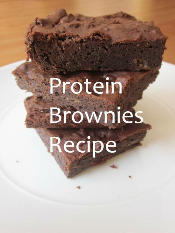 protein brownies recipe! Actually tried this tonight with a half of a scoop of vanilla protein instead of adding stevia or sugar and used skim milk instead of almond milk! Super good alternative