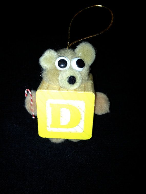 D Teddy Bear Block Ornament for Christmas Tree by JulsCraftCrazy, $5.99