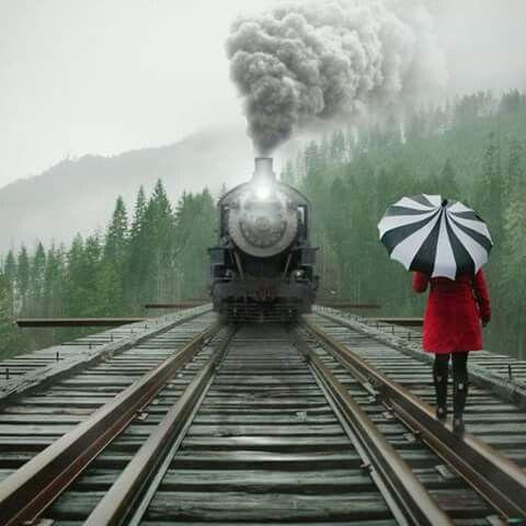 Sobre las vías del tren