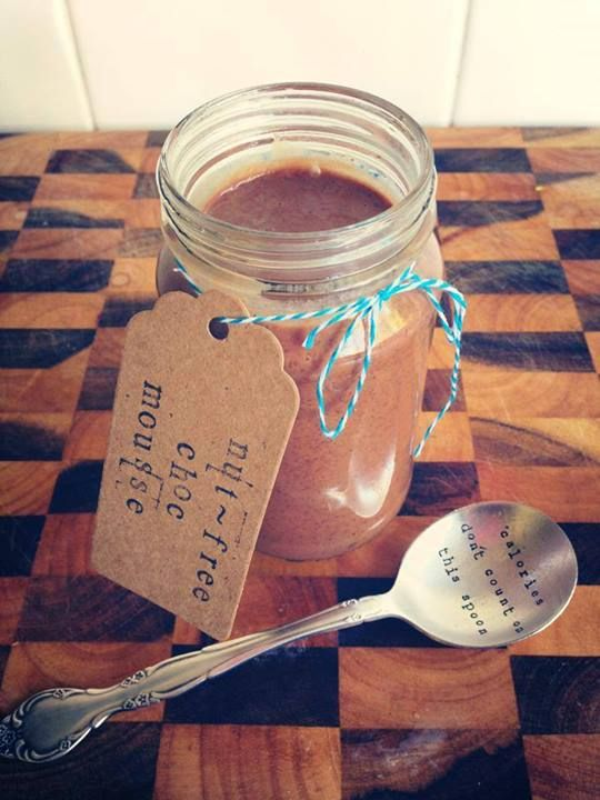 Ashy Bines - Decadent chocolate mousse (nut-free/dairy-free)  From Nicole Joy - Guilt free desserts + nourishing affirmations