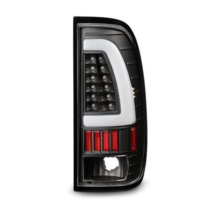 For 97-03 F150, 97-99 F250LD Black Headlights Set + Light-Bar LED Tail Lights