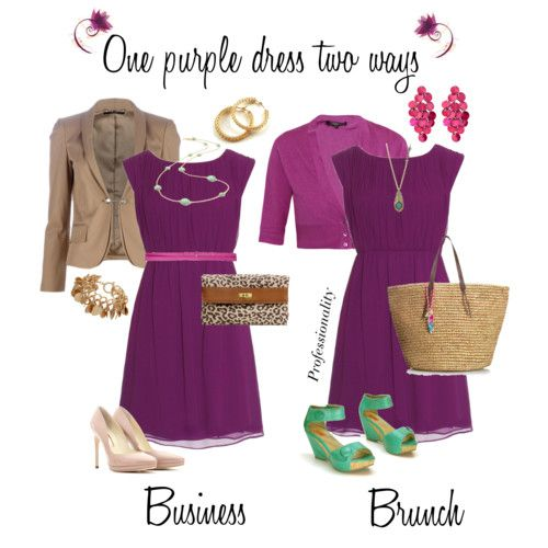 Color Schemes: Totally helped when picking accessories with my purple cocktail dress!