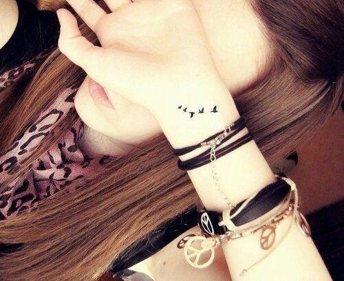 Wrist birds tattoo