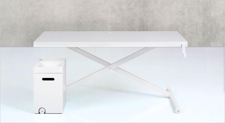 Homlris X-Table. Working desk. Arbejdsbord. Skrivebord. Hæve/sænkebord.