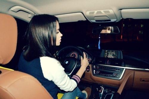 Driving Girl Bmw Woman Driving Man Sleeping