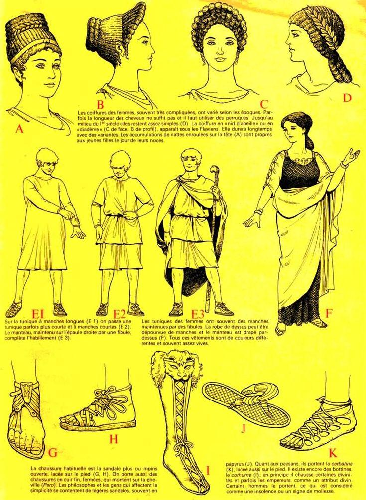 De tout temps, les hommes on eut un souci d'apparence, dans la Rome Antique: la mode est tout autant présente: on reconnaît les toges; habit traditionnel inspiré des grecs.