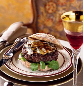Porcini-Gorgonzola Burgers with Veal Demi-Glacé Recipe | Epicurious ...