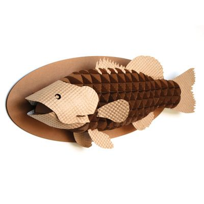 Cardboard Safari Animal Trophies - Wayne the Bass! What a funny gift too
