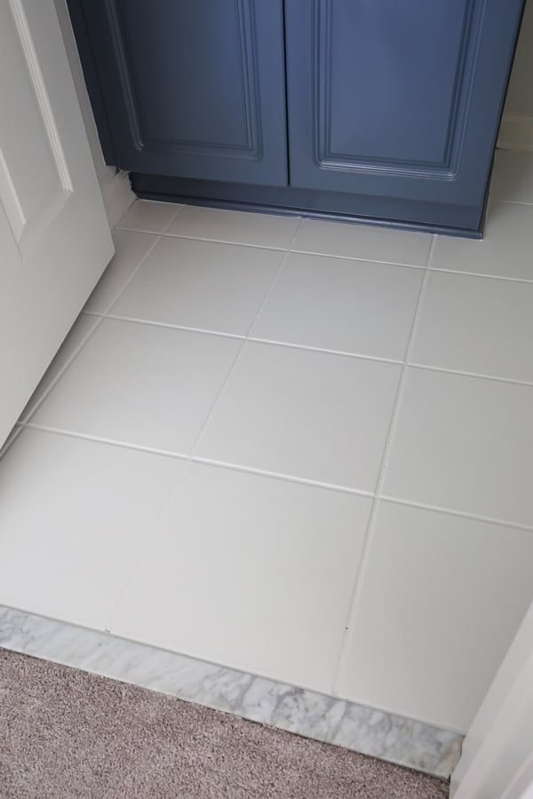 How To Paint Tile Floor In A Bathroom Angela Marie Made How To