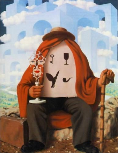The liberator - Rene Magritte Completion Date: 1947 Place of Creation: Brussels, Belgium Style: Surrealism Period: Vache Period Genre: symbolic painting Technique: oil Material: canvas Dimensions: 99.1 x 78.7 cm Gallery: Private Collection