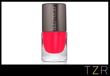 Laura Mercier Nail Lacquer in Sizzle  a hot coral stunner for spring -with chip-resistant coverage and a fast-drying formula
