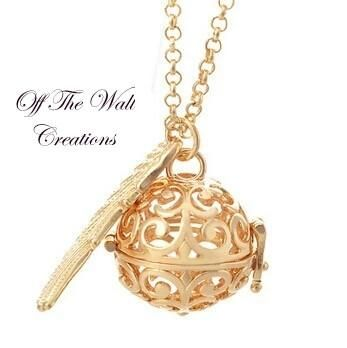 Angelic Harmony Chime Pendant Necklace - Rose Gold