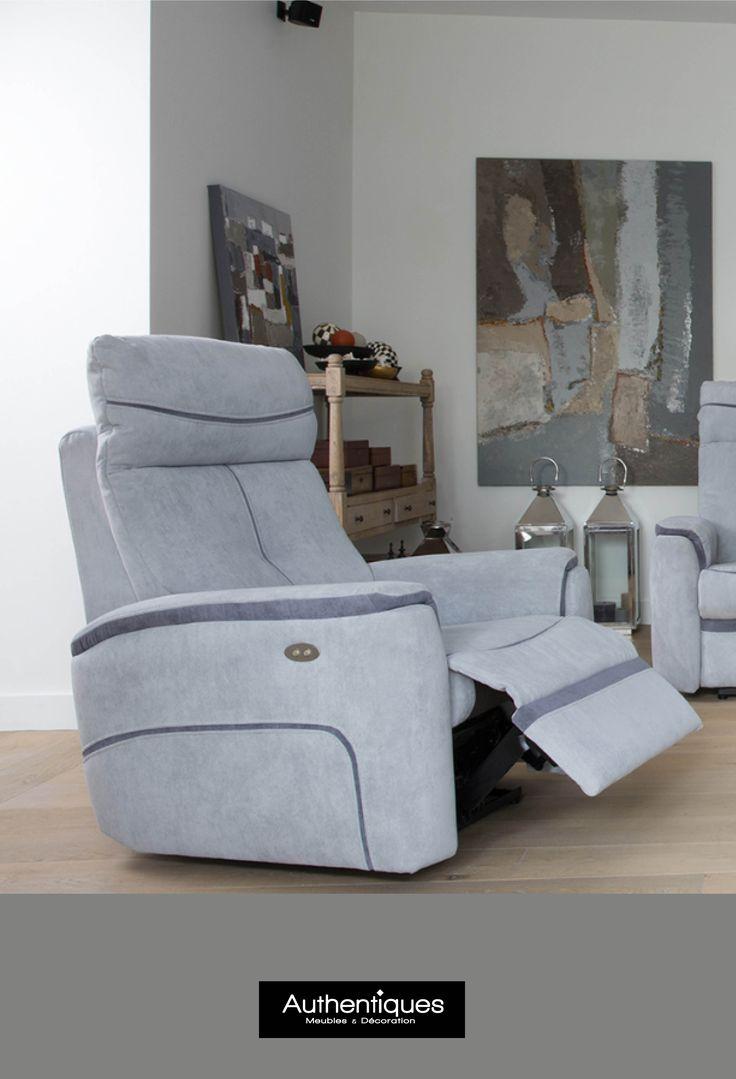 Soyez détendus pour NOËL avec ce canapé de relaxation  #Authentiques #décoration #meubles #design #noël (Microfibre 100% polyester. Fauteuil relax électrique 83xH110x90cm)