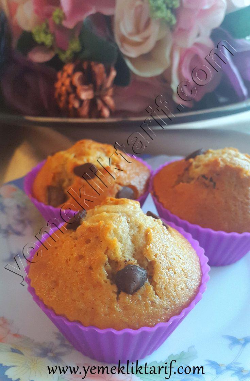Damla Çikolatalı Cevizli Muffin Kek Tarifi