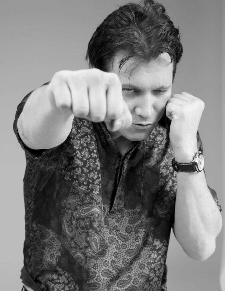 Actor Holt McCallany wearing the Classic Götz White Chronograph with a Genuine Brown Leather Strap.     Stylist: Cameron Carpenter  Photographer: Michael William Paul