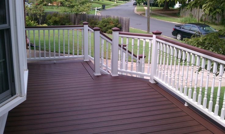 Trex Transcends Lava Rock Deck By Archadeck With White