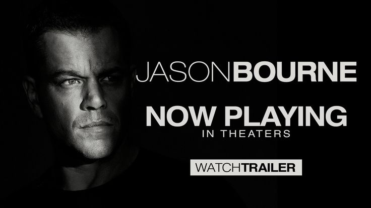 Jason Bourne (2016) dirigida por Paul Greengrass y en el reparto Matt Damon, Tommy Lee Jones, Alicia VikanderJason Bourne