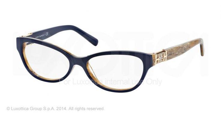 Tory Burch TY2045 Eyeglass Frames 1333-51 - Navy/horn Frame