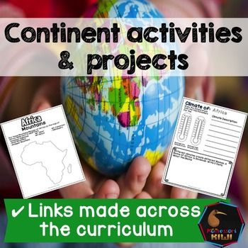 World Geography Continent work. These open ended social studies projects will help your students learn about continents by learning about Cultural geography and physical geography continent work.  Suitable for children in Montessori or public school classrooms.These activities encourage students to undertake geography projects either independently or in groups!