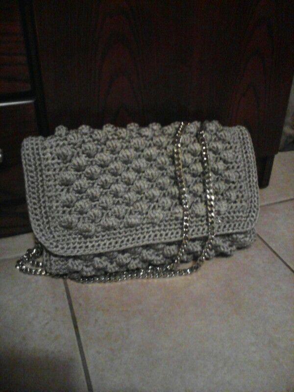 Bubble crochet grey