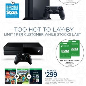 Toy Sale: Uncharted 4 $59, Fallout 4 $39, PS4 500G + Stan $379, Xbox One Bundle $299 + More @ Big W