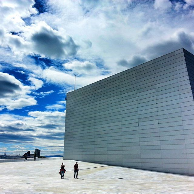 Oslo Opera House backside, Oslo, Norway! #visitoslo #visitnorway #norway #oslo #view #nature #day #summer #life #blue #holiday #vacation #clouds #sky #art #architecture #house #travel #reise #reiseliv #building #beautiful #love