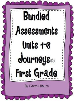 Bundled Assessments Units 1-6 Journeys® First Grade                                                                                                                                                      More