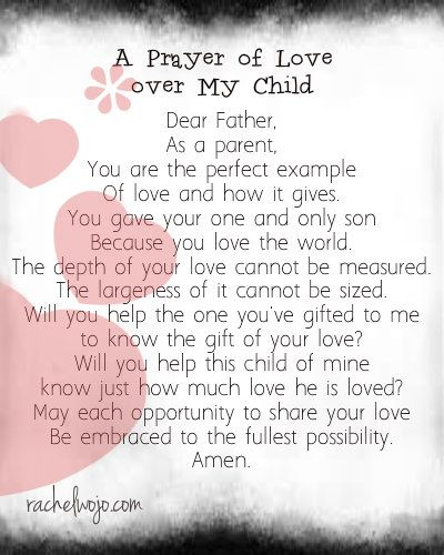 Praying God's love over our babies...and toddlers... and preschoolers...and schoolagers...and teens... :)