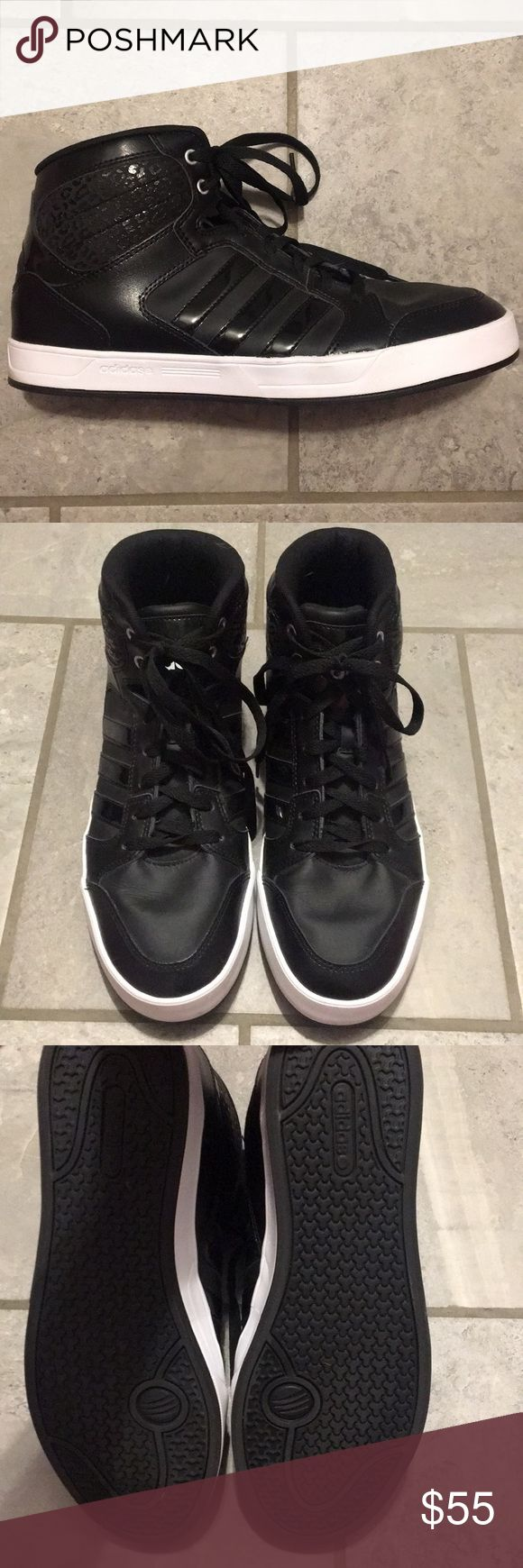 Adidas Neo high tops So sad I have to sell these but they are too wide for my narrow feet. they are a reposh.  They are in great condition since I never wore them. adidas Shoes Sneakers
