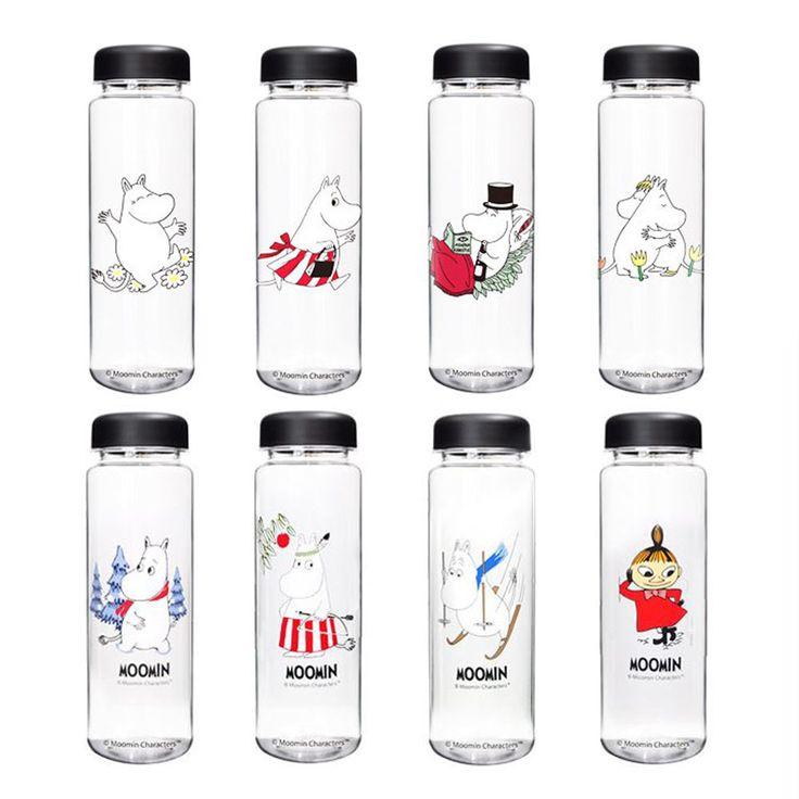 Moomin Mama Papa Littlemy Sknock Character Portable Clear Bottle 21cm 8in 550ml #Moomin
