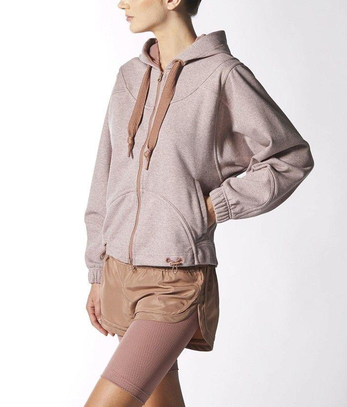 Adidas by Stella McCartney Run Hoodie in Tan