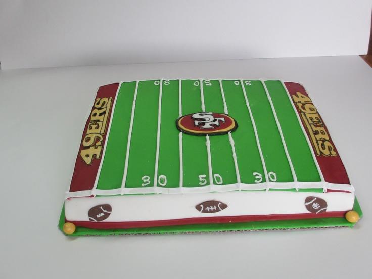 San Francisco 49ers Cake - https://www.facebook.com/KarasBakeShoppe