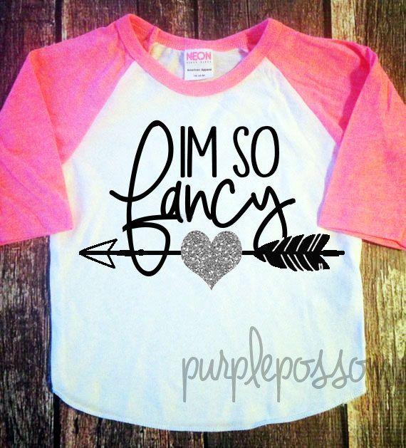 Im so Fancy girls glitter shirt sparkle girls by PurplePossom