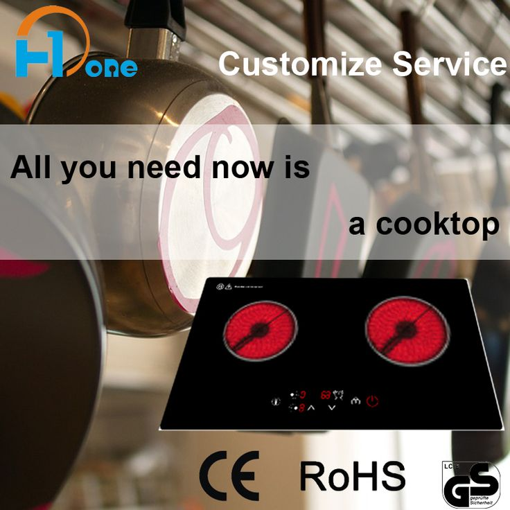 Kitchen Tools Multi-function 2 Burner Ceramic Cooker Hob With Certified PCB Elements