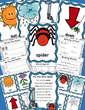 Itsy-Bitsy-Spider-Posters-and-Writing-Activities-Write-the-Room-2013533 Teaching Resources - TeachersPayTeachers.com