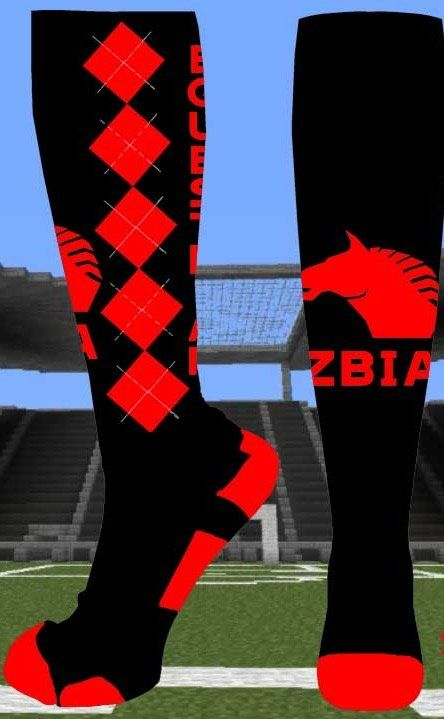 ZBIA Equestrian knee socks Black and red - made in USA - free shipping  @ zbia.com
