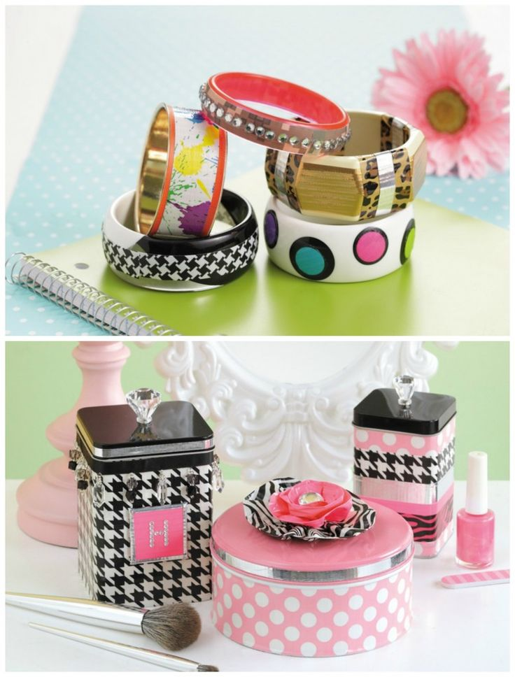 Duct tape bangles - Duct tape jewelry and makeup containers: 30 DIY duct tape tutorials