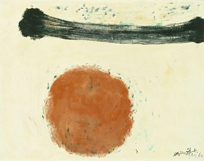 Hsiao Chin  Ty - 88, 1960  olio su tela / oil on canvas  70 x 80 cm