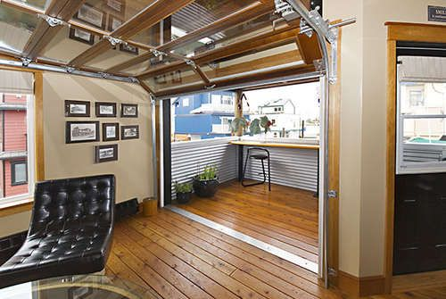 garage in living room garage doors used in living spaces want this going 14423