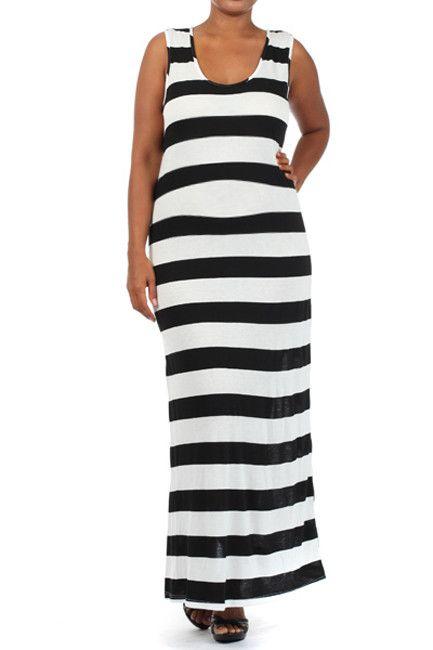 Plus Size Maternity Dresses-Stripes, Camera, Action