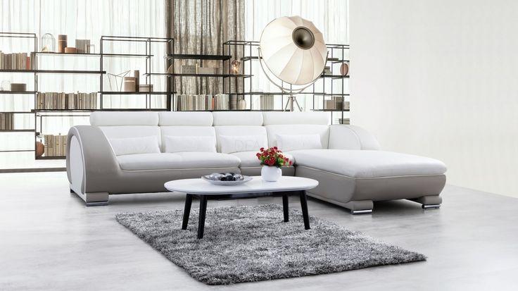 Carmel Leather Chaise Lounge Option B - Lounge Life
