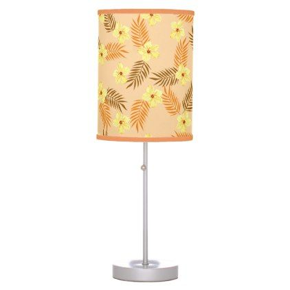 #home #lamps #decor - #Tropical Seamless vector illustration. Desk Lamp