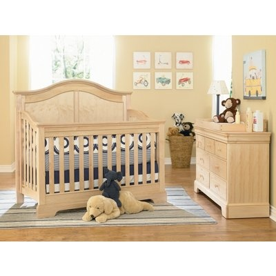 A Young America Built To Grow Acclaim Crib In Natural Wood Stain Finish Is  A Natural