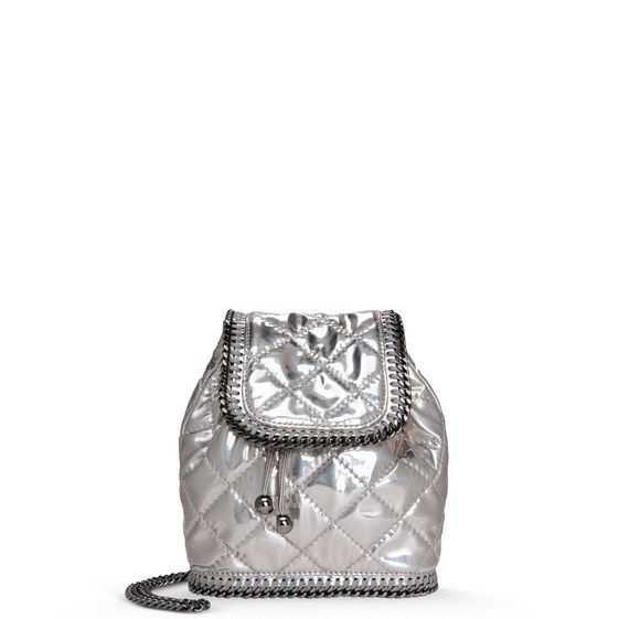 Stella McCartney - Falabella Quilted Metallic Mini Backpack - PE15 - f